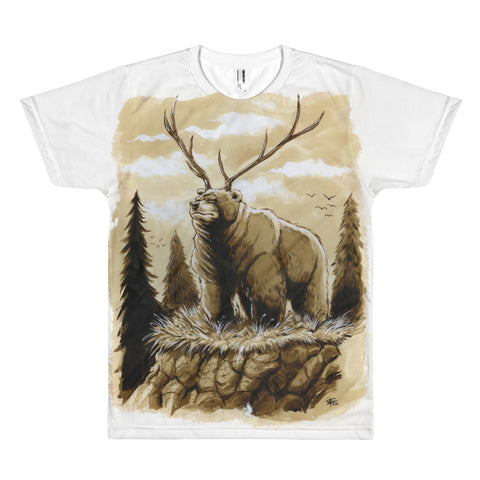 Large Print Bear Elk T-Shirt