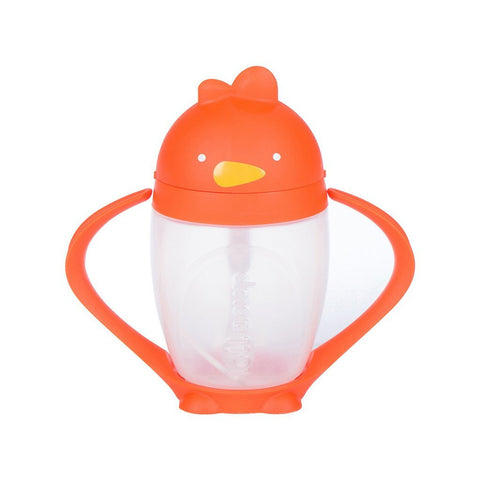 LOLLACUP - WEIGHTED STRAW SIPPY CUP | ORANGE