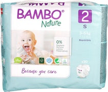 Bamboo Nature Eco-Friendly Diapers - Size-2 (3-6 KG)