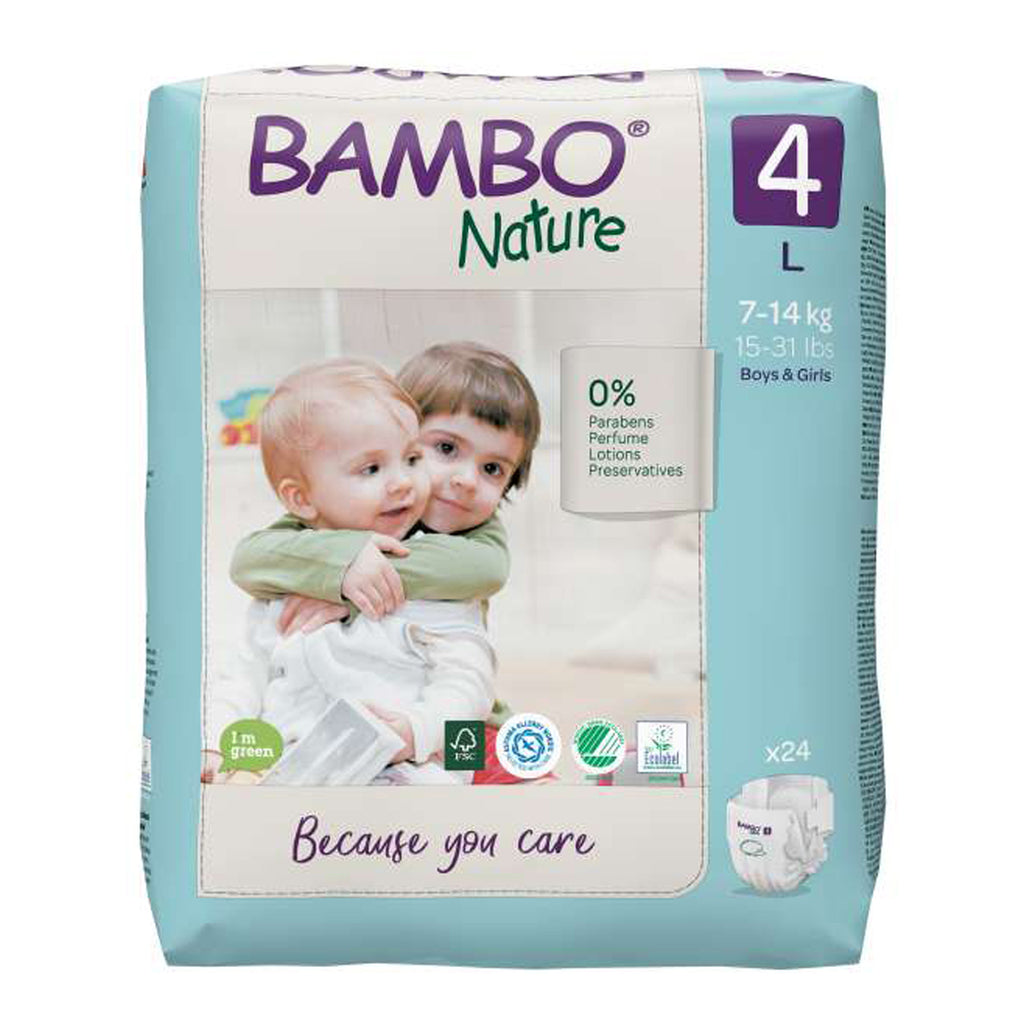 Bamboo Nature Eco-Friendly Diapers - Size-4 (7-14 KG)