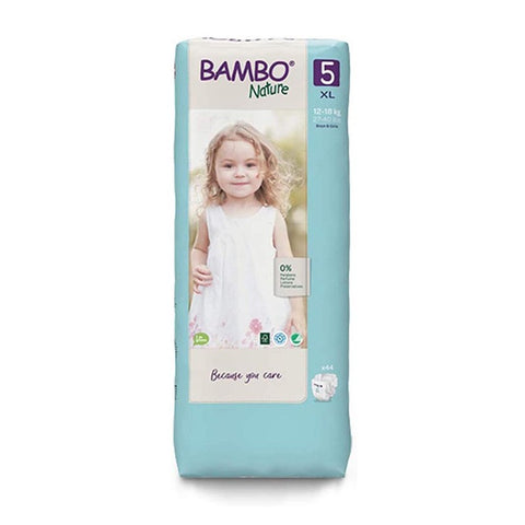 Bamboo Nature Eco-Friendly Diapers | Size-5 (12-18 KG) | Tall 44pcs