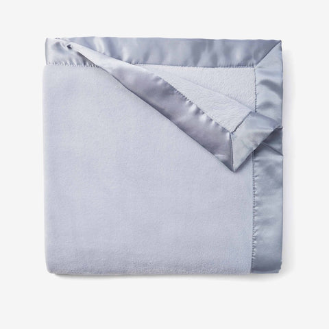 PALE BLUE CORAL FLEECE BABY STROLLER BLANKET | 89110