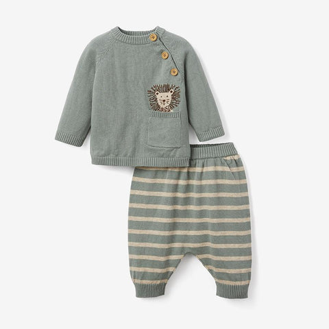 LION KNIT SWEATER & PANT BABY GIFT SET | 91645