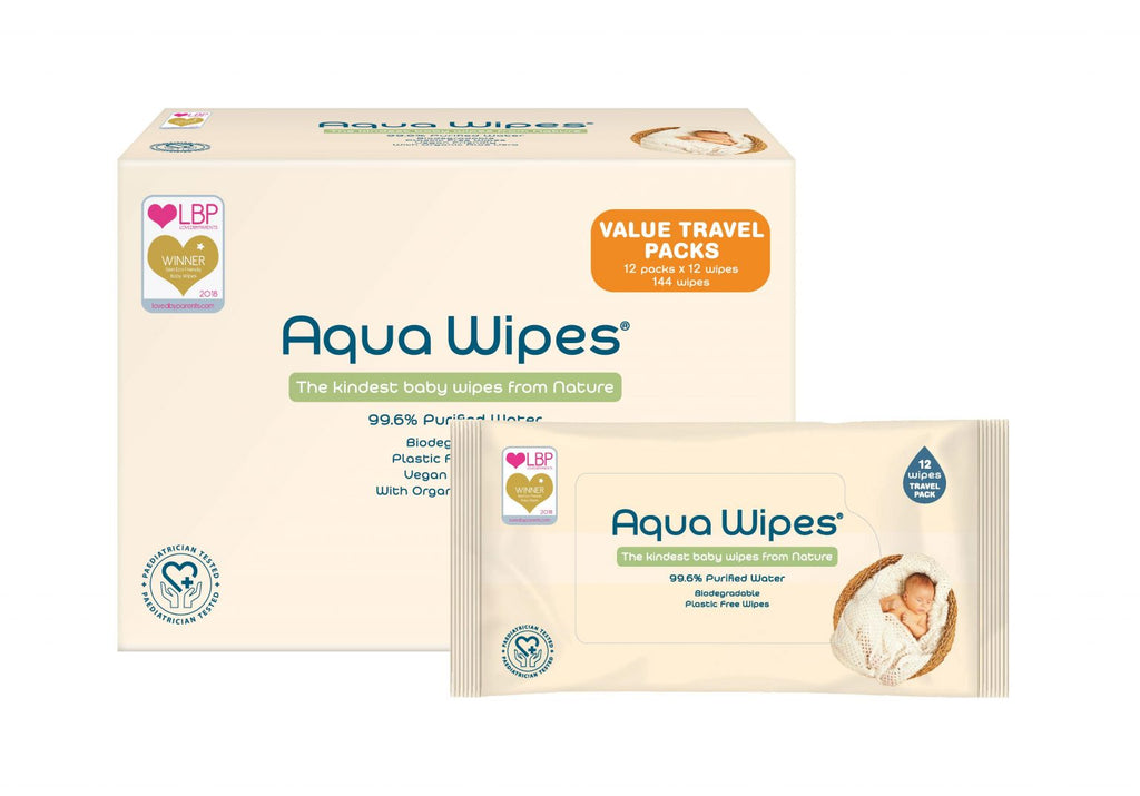 Aqua Wipes - Travel 12 Packs