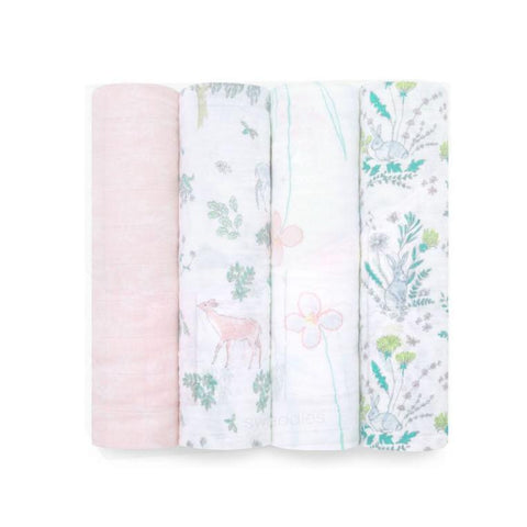 4 Pack Swaddles Classic Forest Fantasy
