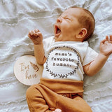 Mama's Favorite Human - Bodysuit & Tee - Clay - Short Sleeve - 0-3m