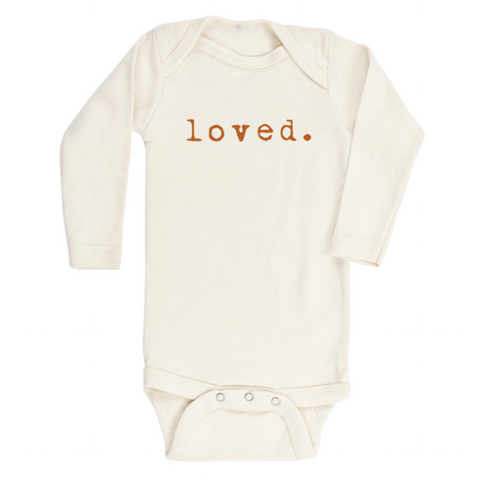 Loved | Bodysuit & Tee | Long Sleeve | Rust