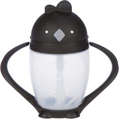 LOLLACUP - WEIGHTED STRAW SIPPY CUP | BLACK