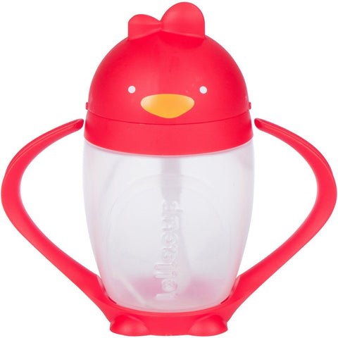 LOLLACUP - WEIGHTED STRAW SIPPY CUP | RED