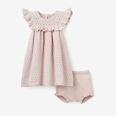 POINTELLE DRESS + BLOOMER  | BLUSH PINK