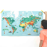POPPIK STICKER POSTER  - WORLD MAP