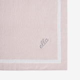 BLUSH TUXEDO STRIPE REVERSIBLE COTTON KNIT BABY BLANKET | 89461