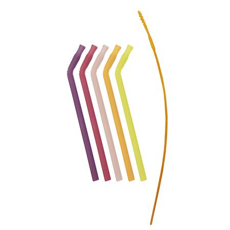5PCS REUSABLE SILICONE STRAW | VERY BERRY