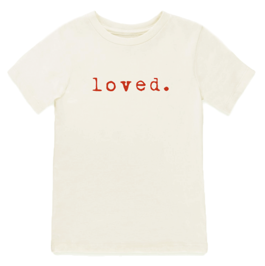 Loved | Red  | Organic Tee