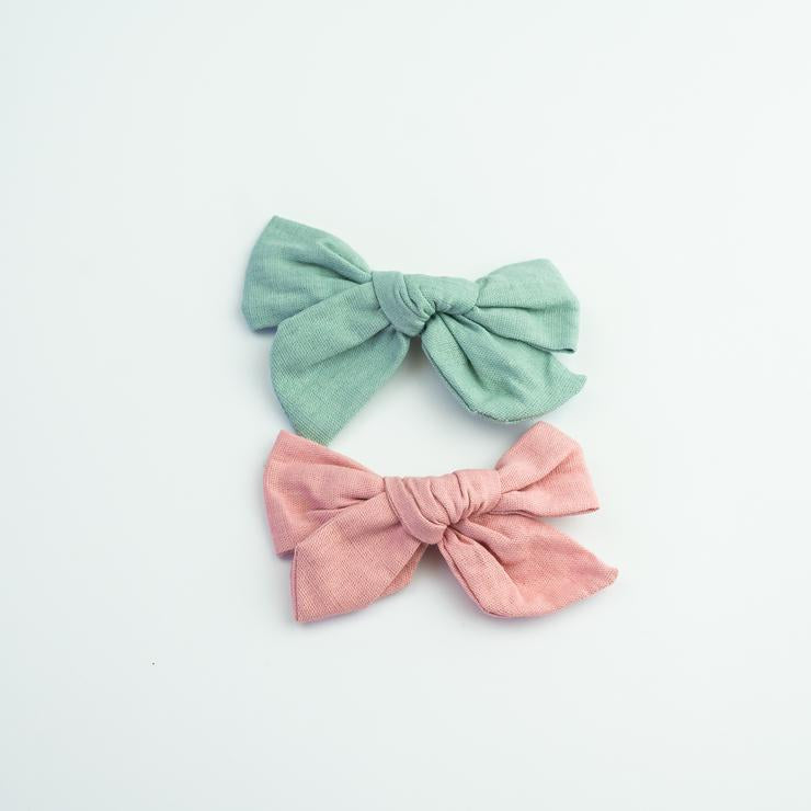 School Girl Linen Bows