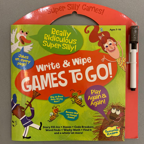 Eeboo Write & Wipe Games To Go!