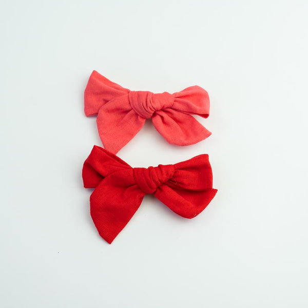 You Are My Valentine Linen Bows