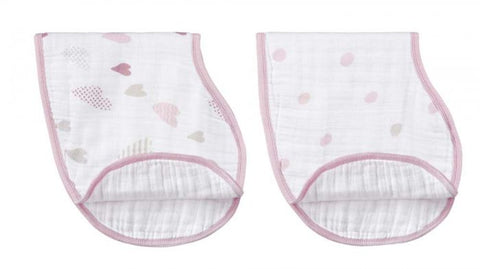 2 Pack Burpy Bibs - Heart Breaker