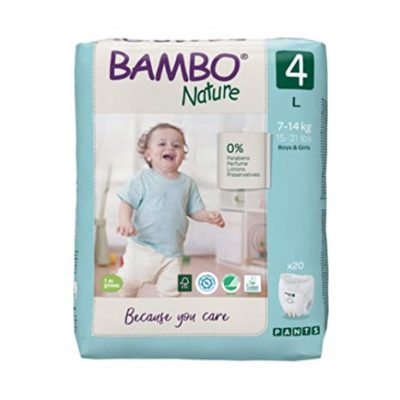 Bamboo Nature Eco-Friendly Diapers - Size-4 (7-14 KG) Pants