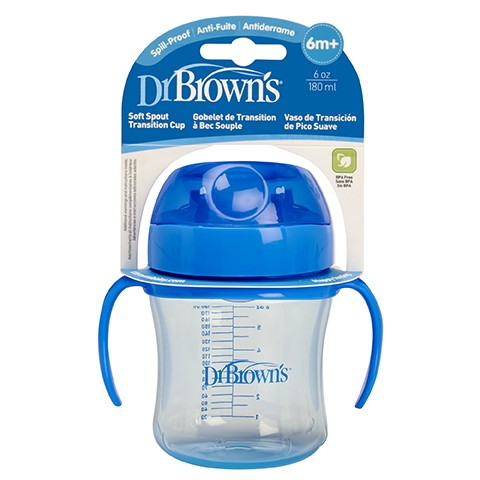 Dr. Browns Soft-Spout Transition Cup 6oz Blue (Stage1:6m+)