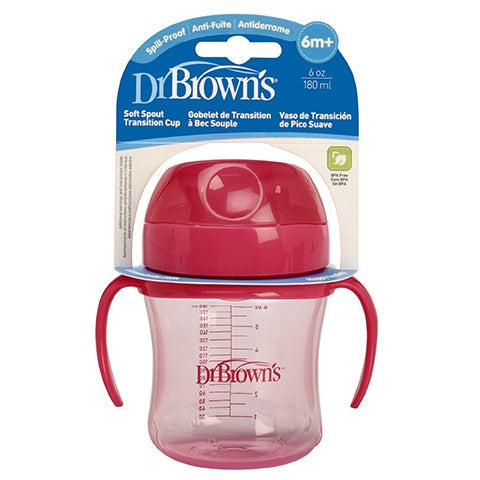 Dr. Browns Soft-Spout Transition Cup 6oz Pink (Stage1:6m+)