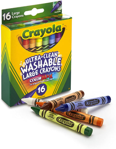 Washable Large Crayons - Set of 16