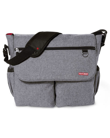 Dash Signature Diaper Bag - Heather Grey