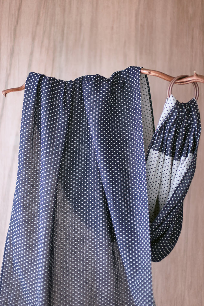 The Original Collection: Bahar (بَحر) Blue Polka Dot Ring Sling
