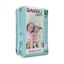 Bamboo Nature Eco-Friendly Diapers | Size- 6 | 18+ KG Pants