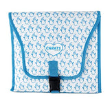 Carats Car Seat Cooing Pad - Chevron Blue