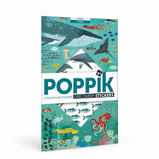 Poppik - Sticker Poster - Ocean Animals