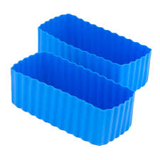 Rectangle Bento Cups-Blue