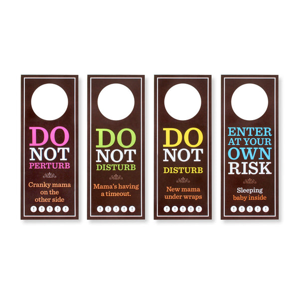 Do Not Perturb: Door Hangers for Mama & Baby (Set of 4)