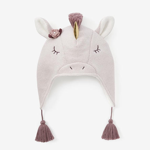 CREAM UNICORN AVIATOR KNIT BABY HAT | 10645