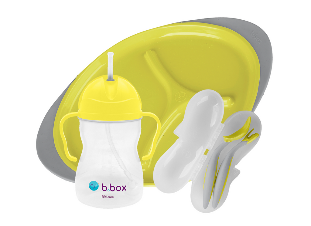 Toddler Feeding Set - Lemon Sherbet