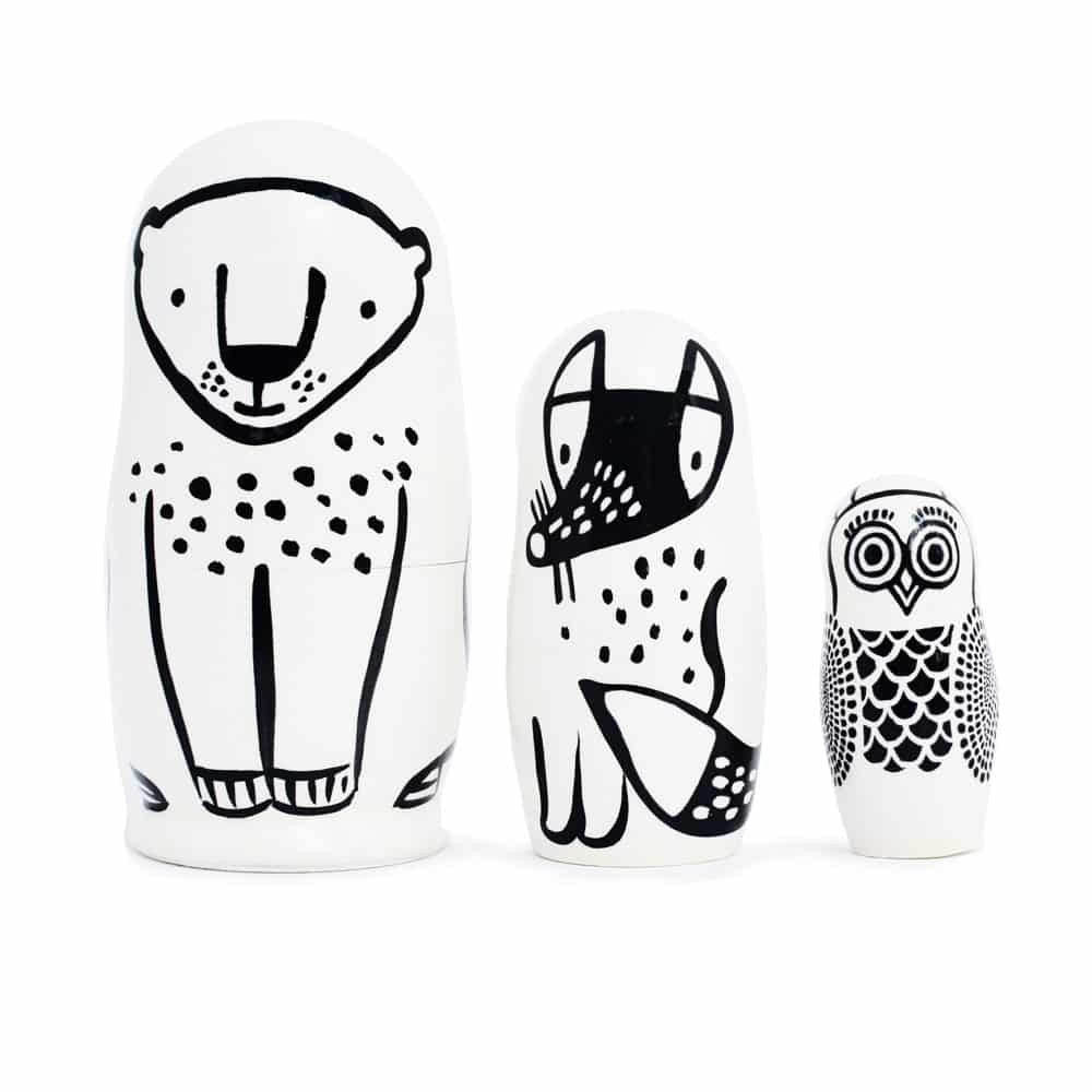 Set of 3 Nesting Dolls – Forest Friends