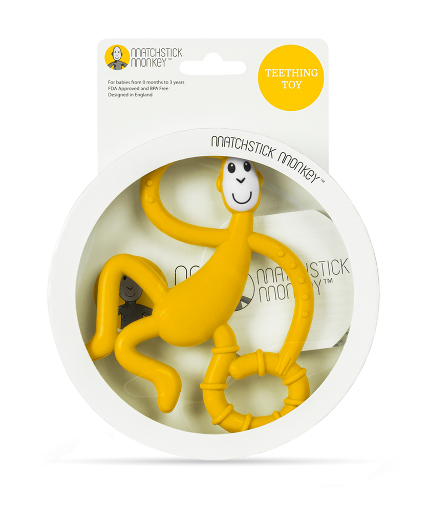 Dancing Monkey Teether - yellow