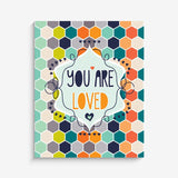 Honey Comb Love Print