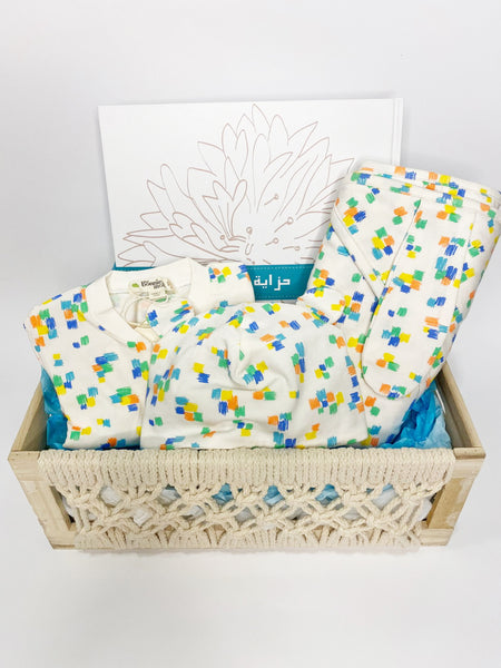 Multi Colored Gift Basket