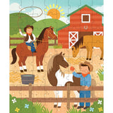 at the ranch 64-piece puzzle tin & coin bank