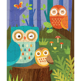 owl family 64-piece puzzle tin & coin bank