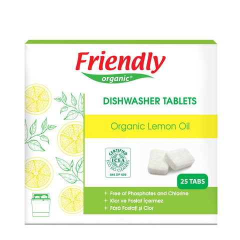 Friendly Organic Lemon Dishwasher Tablets