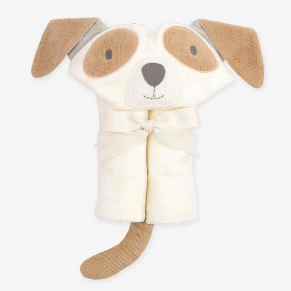 TAN PUPPY HOODED BABY BATH WRAP | 79600