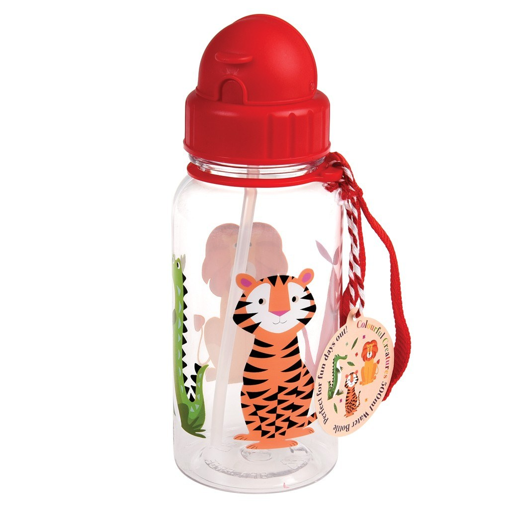 Colorful Creatures Water Bottle