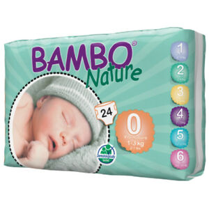 Bamboo Nature Eco-Friendly Diapers | Size-0 | 1-3 KG