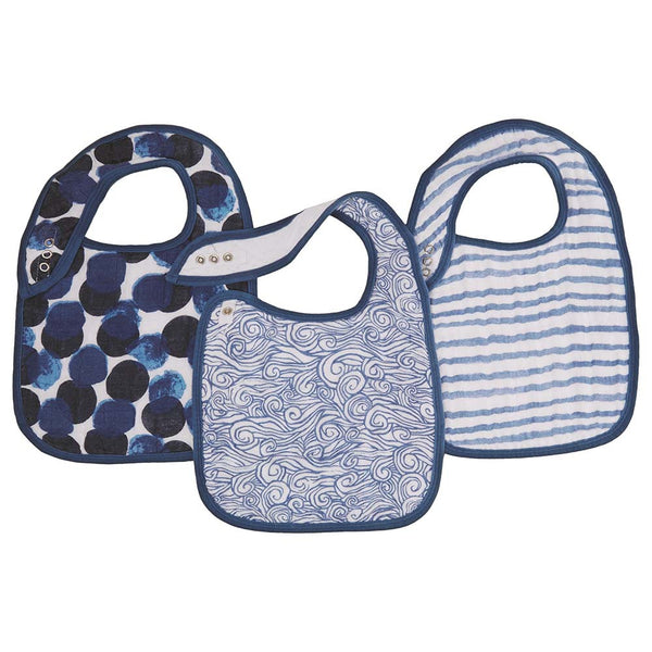 SeaFaring Classic 3-Pack  Snap Bibs