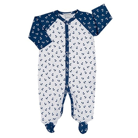 Sail Away White/Navy Footie