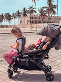 Vidiamo Double Limo Stroller | Frame + Canopy | Carbone Grey