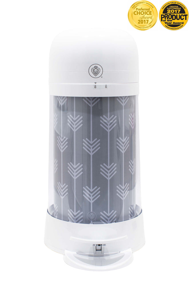 Twistr Nappy Disposal System - Grey Arrow