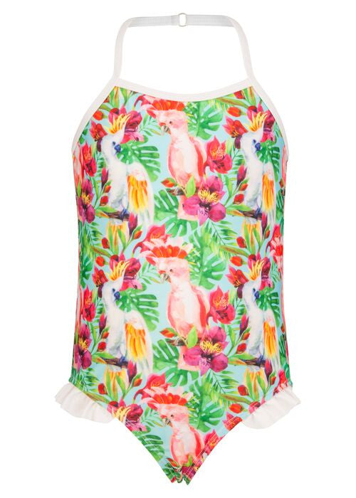 TROPICAL BIRDS HULTER SWIMSUIT